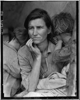 "Dorothea Lange's ""Migrant Mother"" from womenshistorymonth.gov."